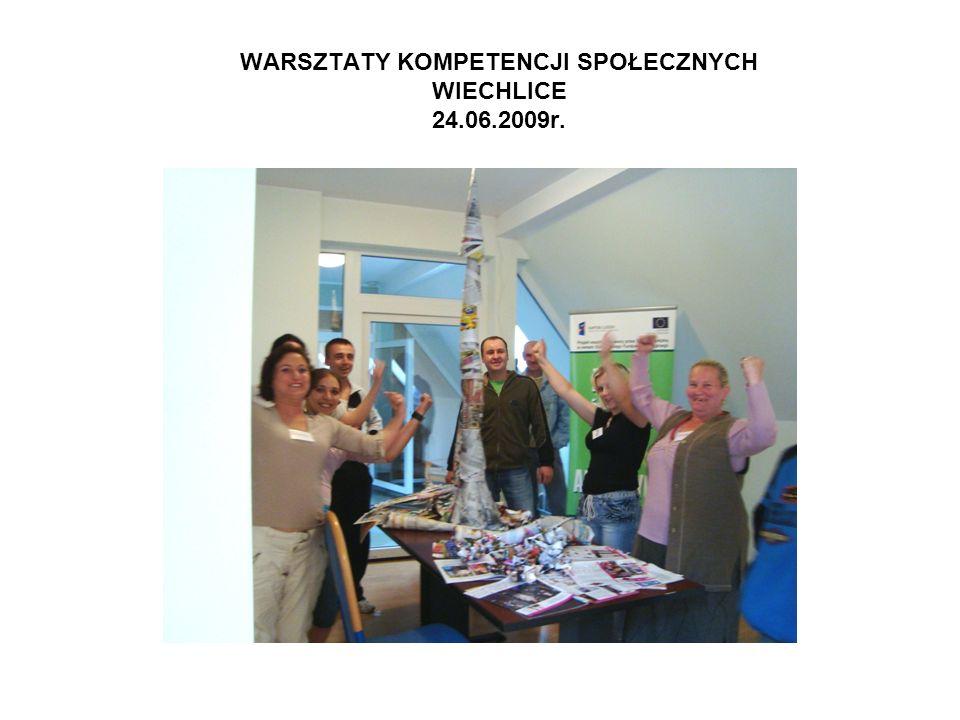 WARSZTATY KOMPETENCJI SPOŁECZNYCH WIECHLICE 24.06.2009r.