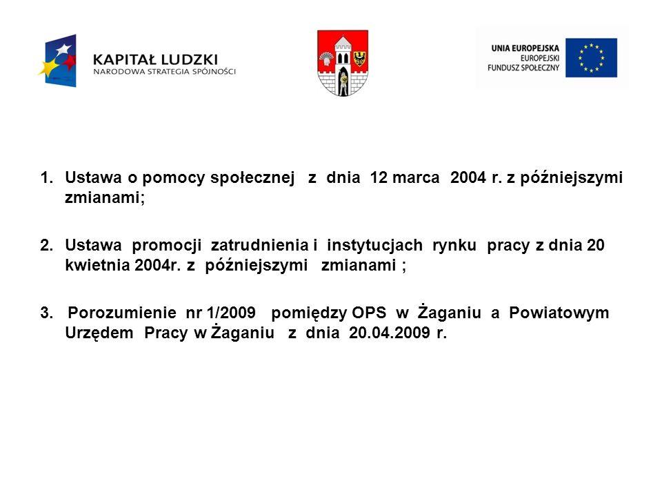 1.Ustawa o pomocy społecznej z dnia 12 marca 2004 r.