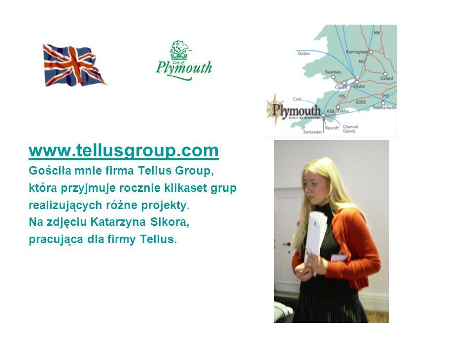 www.tellusgroup.com Gościła mnie firma Tellus Group, która przyjmuje rocznie kilkaset grup realizujących różne projekty. Na zdjęciu Katarzyna Sikora,