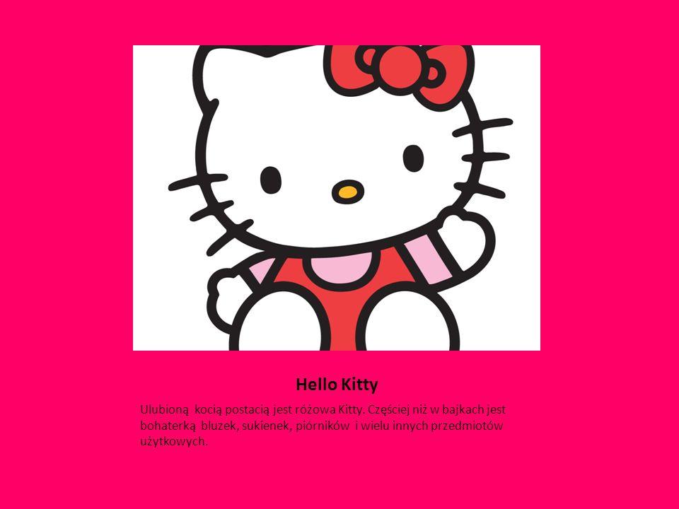 Hello Kitty Ulubioną kocią postacią jest różowa Kitty.