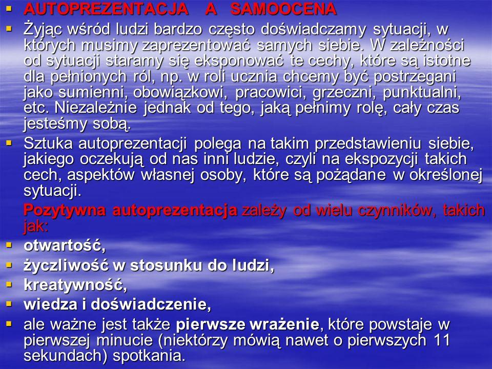 Skala Poczucia Własnej Wartości (SES) M. Rosenberga; adaptacja Z. Juczyński, 1997 Skala Poczucia Własnej Wartości (SES) M. Rosenberga; adaptacja Z. Ju