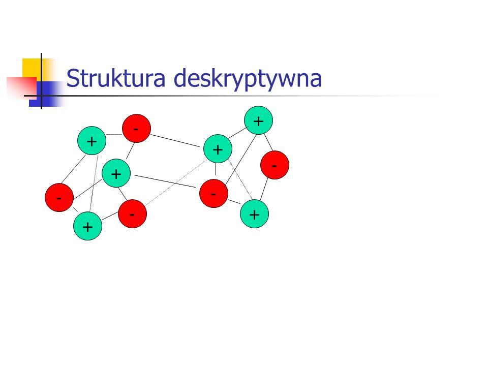 Struktura deskryptywna + + + - -+ - + - + -