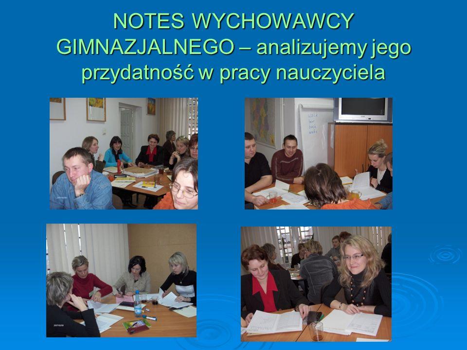 NOTES WYCHOWAWCY GIMNAZJALNEGO – analizujemy jego przydatność w pracy nauczyciela