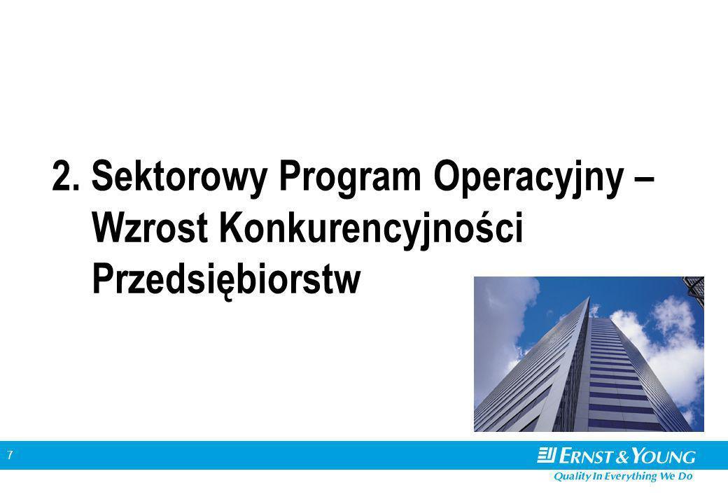 7 2. Sektorowy Program Operacyjny – Wzrost Konkurencyjności Przedsiębiorstw