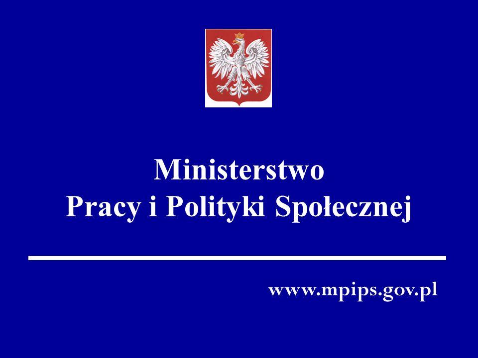 Ministerstwo Pracy i Polityki Społecznej www.mpips.gov.pl