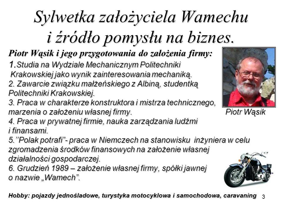 3 Sylwetka założyciela Wamechu i źródło pomysłu na biznes. Piotr Wąsik i jego przygotowania do założenia firmy: 1. Studia na Wydziale Mechanicznym Pol
