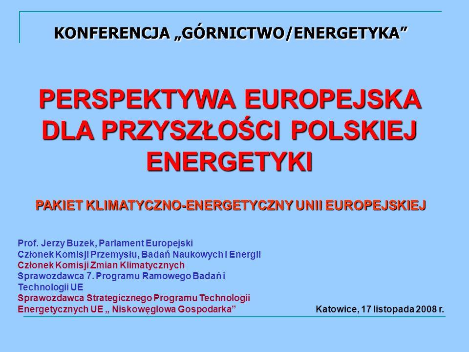 KONFERENCJA GÓRNICTWO/ENERGETYKA Prof.