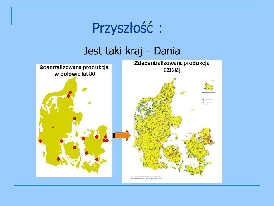 Scentralizowana produkcja w połowie lat 80 Zdecentralizowana produkcja dzisiaj Przyszłość : Jest taki kraj - Dania