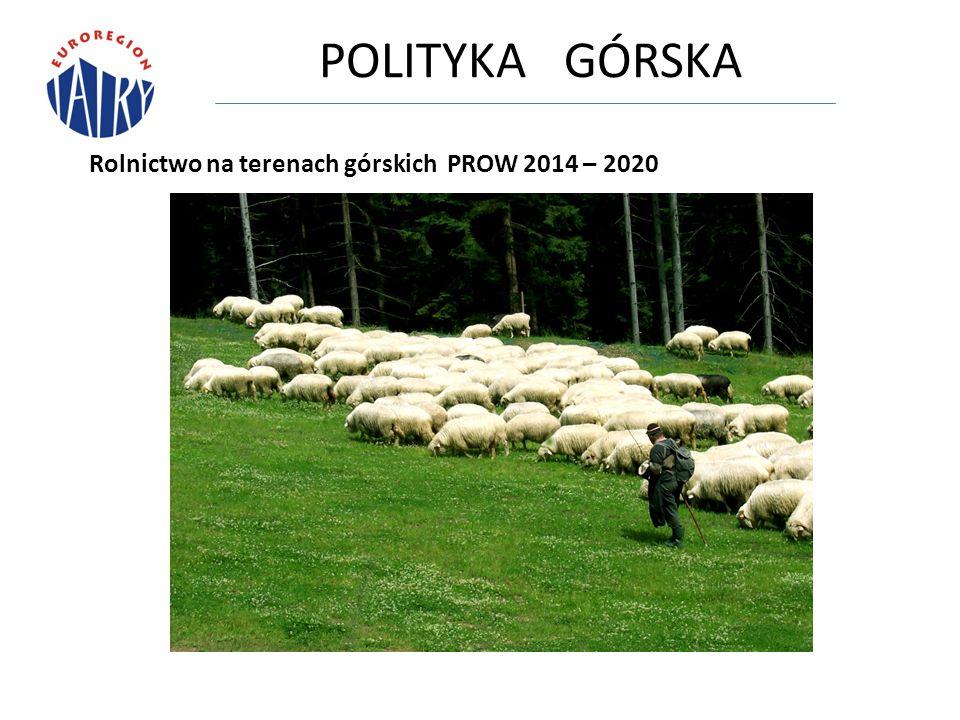 POLITYKA GÓRSKA Rolnictwo na terenach górskich PROW 2014 – 2020