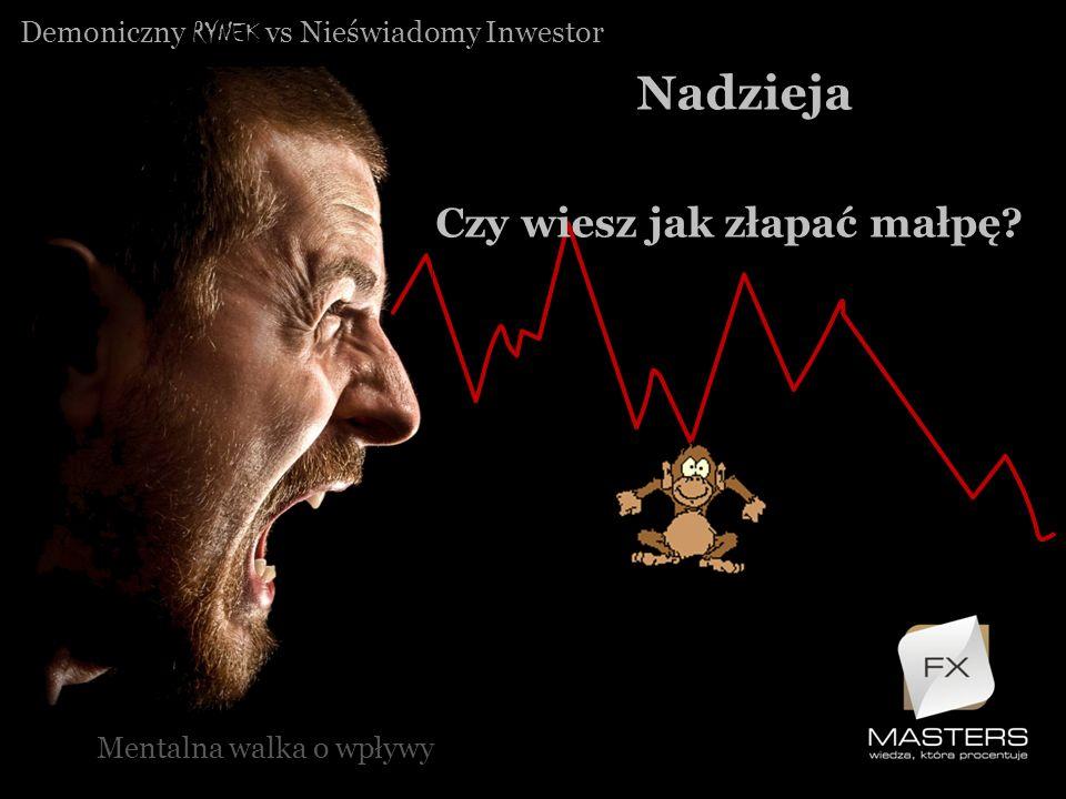 Demoniczny RYNEK vs Nieświadomy Inwestor Nadzieja Mentalna walka o wpływy Czy wiesz jak złapać małpę?