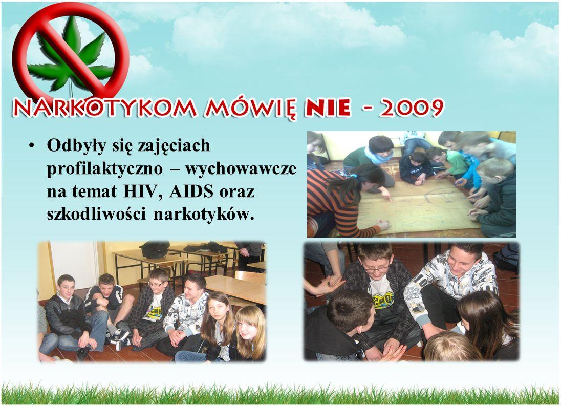 Odbyły się zajęciach profilaktyczno – wychowawcze na temat HIV, AIDS oraz szkodliwości narkotyków.