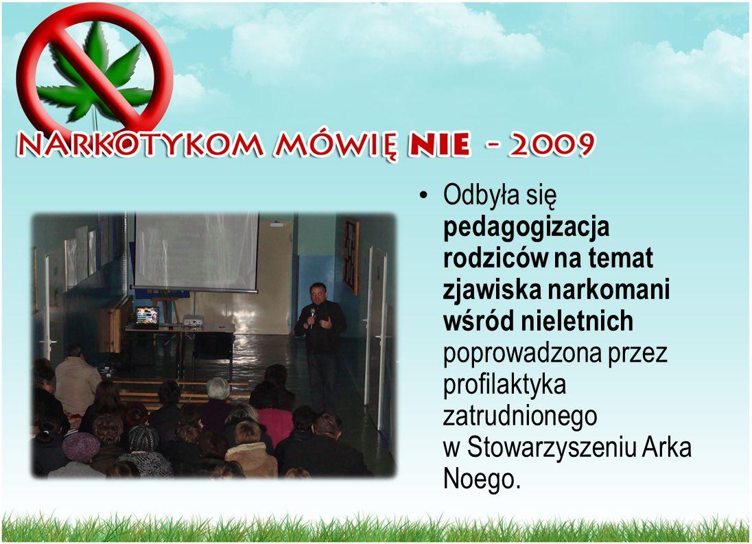 Odbyła się pedagogizacja rodziców na temat zjawiska narkomani wśród nieletnich poprowadzona przez profilaktyka zatrudnionego w Stowarzyszeniu Arka Noe