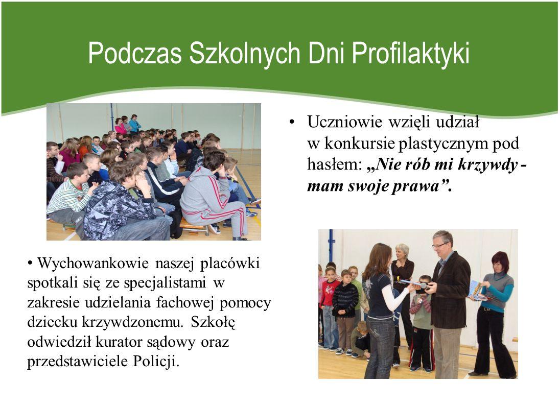 Podczas Szkolnych Dni Profilaktyki Uczniowie wzięli udział w konkursie plastycznym pod hasłem: Nie rób mi krzywdy - mam swoje prawa. Wychowankowie nas