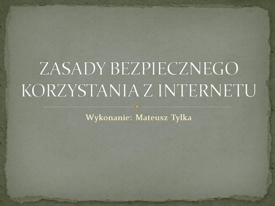 Wstęp.Ustal wspólnie z rodzicami zasady korzystania z Internetu.