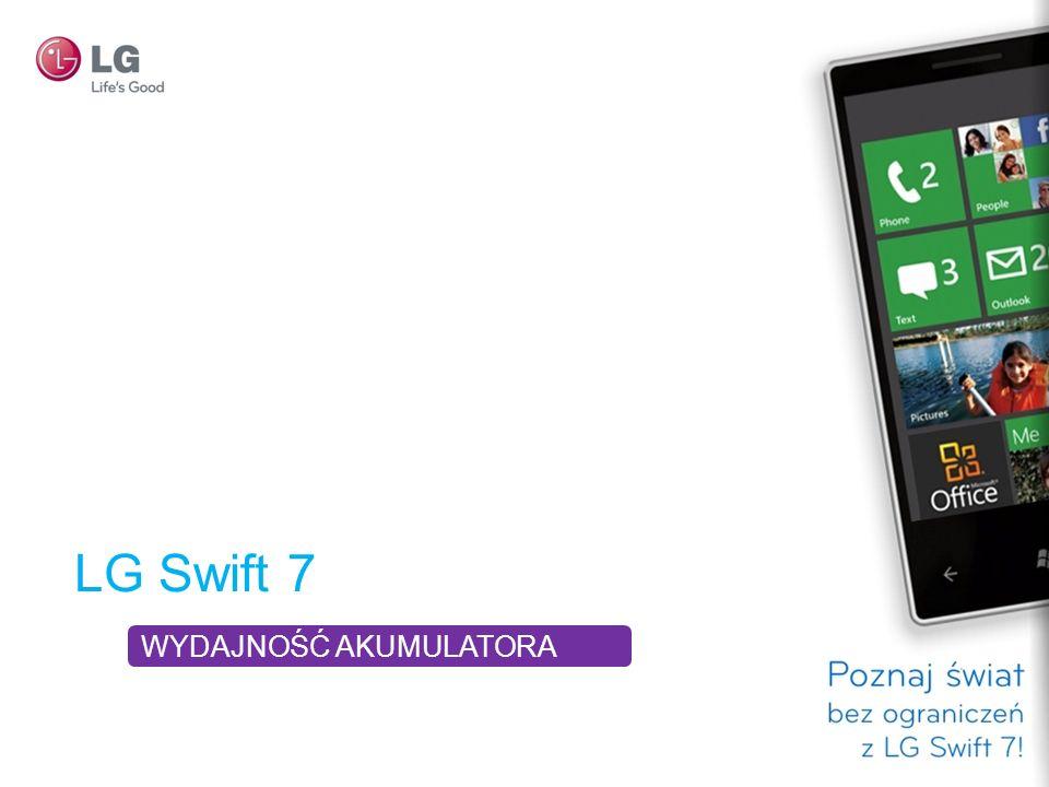 LG Swift 7 WYDAJNOŚĆ AKUMULATORA