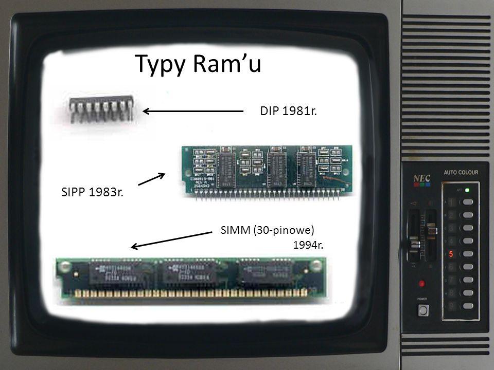 Typy Ramu SIPP 1983r. DIP 1981r. SIMM (30-pinowe) 1994r.
