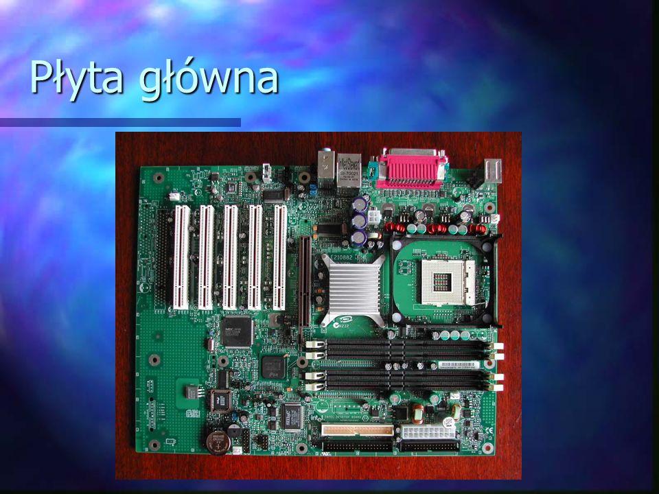 1. Pamięć RAM 2. Pamięć ROM 3. Chipset