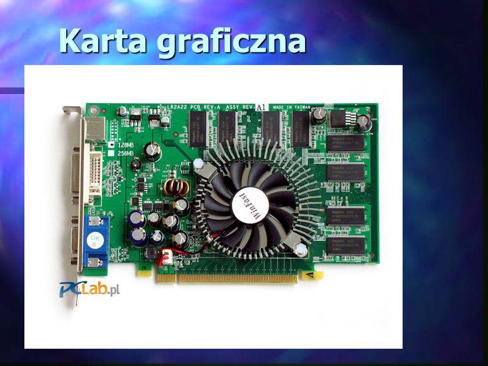Karta muzyczna Karta muzyczna pozwala na odgrywanie oraz nagrywanie na komputerze dźwięku w formie plików muzycznych.