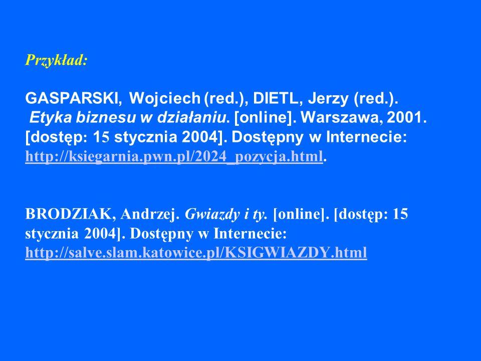 Elektroniczne wydawnictwa zwarte Budowa opisu – książka w Internecie: Autor/redaktor.