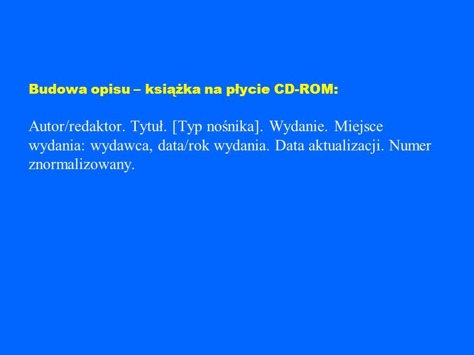 Przykład: GASPARSKI, Wojciech (red.), DIETL, Jerzy (red.). Etyka biznesu w działaniu. [online]. Warszawa, 2001. [dostęp : 1 5 stycznia 2004]. Dostępny