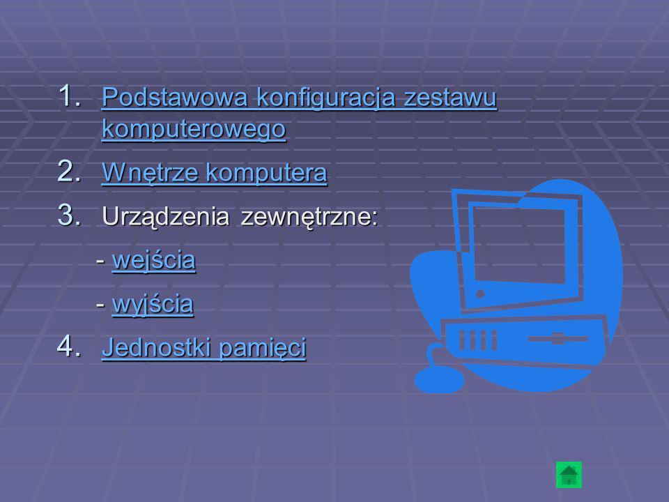 1. Podstawowa konfiguracja zestawu komputerowego Podstawowa konfiguracja zestawu komputerowego Podstawowa konfiguracja zestawu komputerowego 2. Wnętrz
