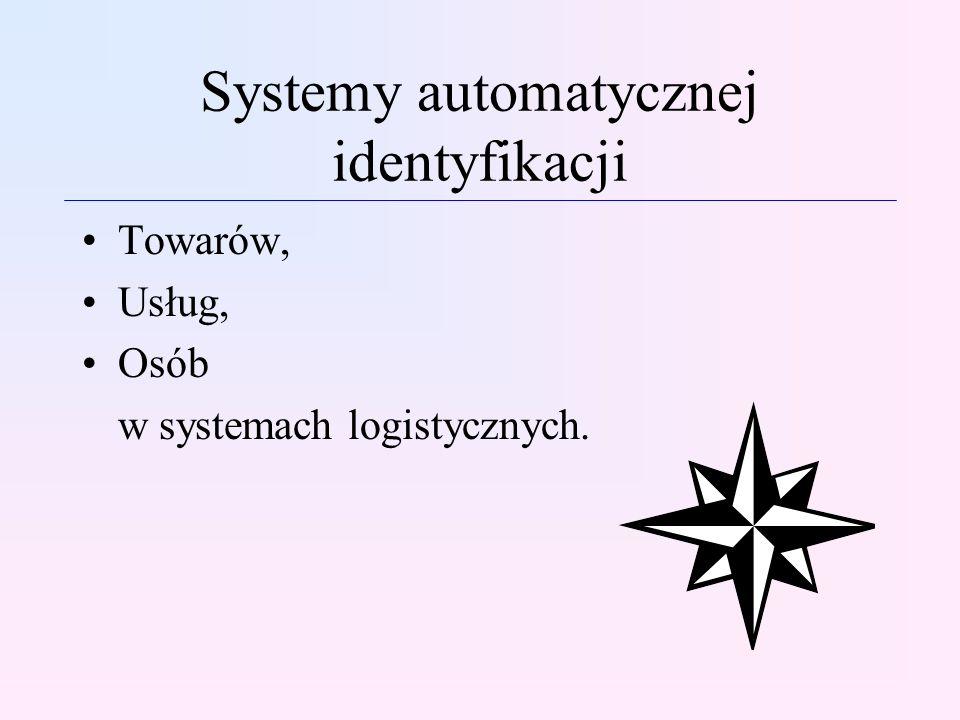 Systemy automatycznej identyfikacji Towarów, Usług, Osób w systemach logistycznych.