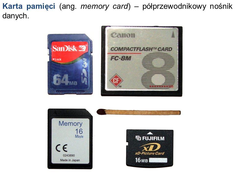 Karta pamięci (ang. memory card) – półprzewodnikowy nośnik danych.
