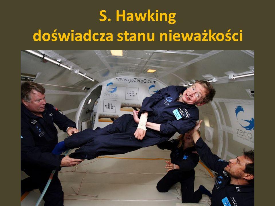 S. Hawking doświadcza stanu nieważkości