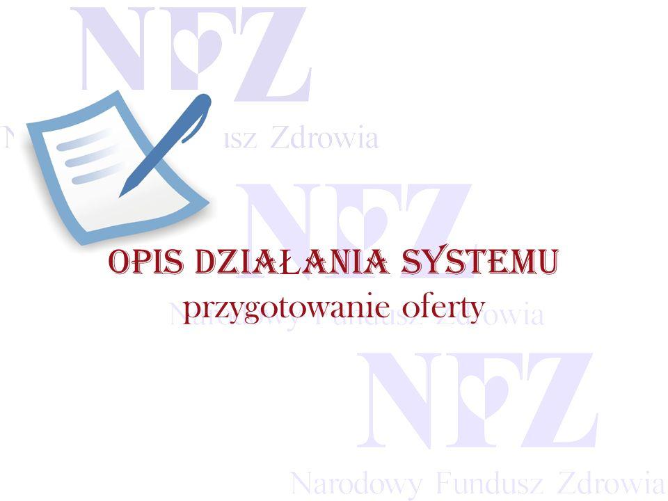 Przekraczamy bariery możliwości OPIS DZIA Ł ANIA SYSTEMU przygotowanie oferty