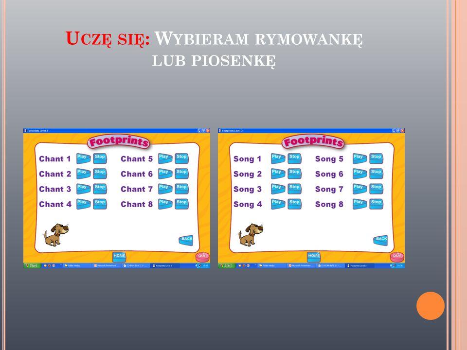 K LIKAM NA S ONGS AND C HANTS BY WYBRAĆ PIOSENKĘ LUB RYMOWANKĘ