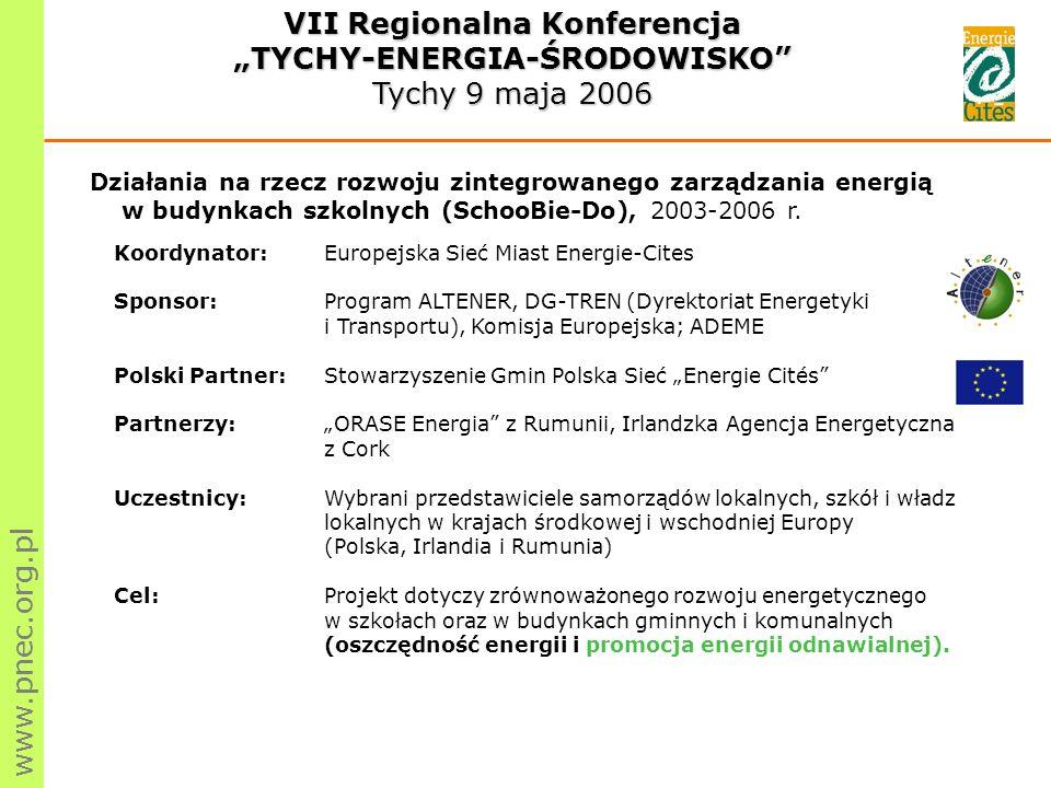 Działania na rzecz rozwoju zintegrowanego zarządzania energią w budynkach szkolnych (SchooBie-Do), 2003-2006 r.