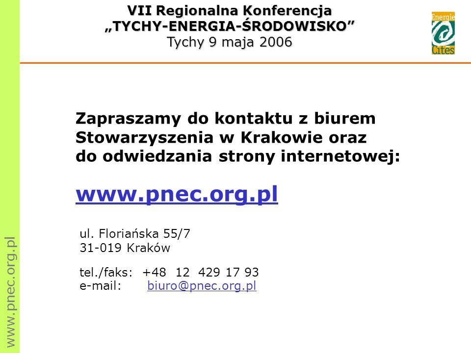 Zapraszamy do kontaktu z biurem Stowarzyszenia w Krakowie oraz do odwiedzania strony internetowej: www.pnec.org.pl ul.