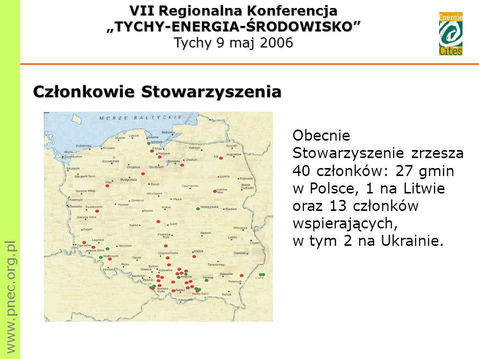 www.pnec.org.pl Obecnie Stowarzyszenie zrzesza 40 członków: 27 gmin w Polsce, 1 na Litwie oraz 13 członków wspierających, w tym 2 na Ukrainie.
