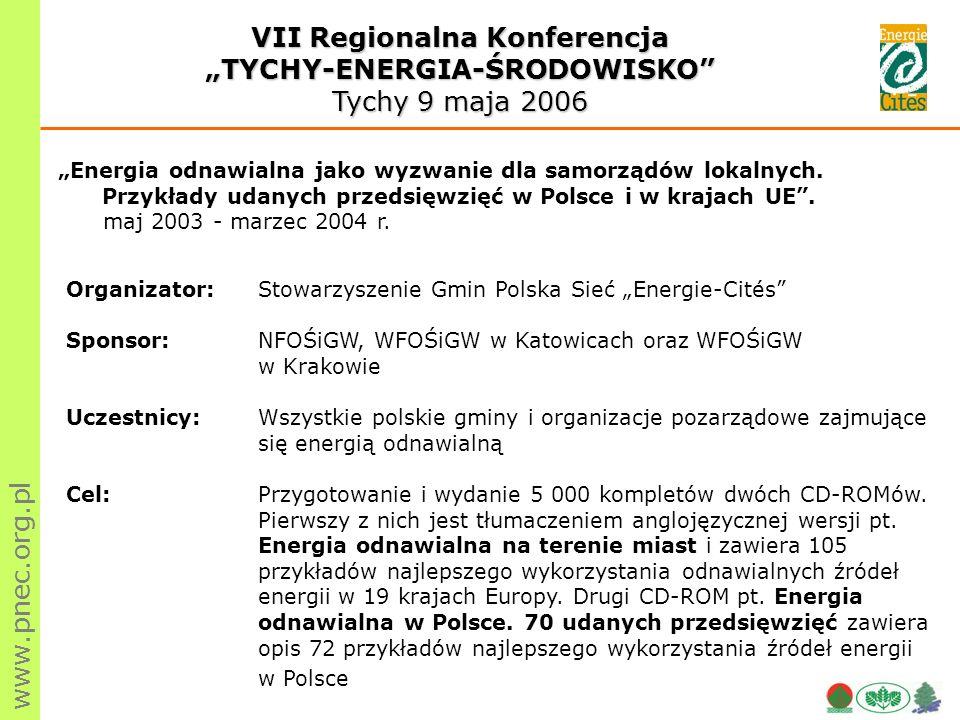 www.pnec.org.pl Energia odnawialna jako wyzwanie dla samorządów lokalnych.
