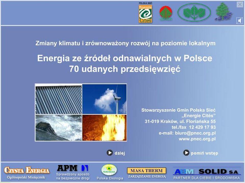 www.pnec.org.pl Stowarzyszenie Gmin Polska Sieć Energie Cités 5 000 sztuk Materiały zostały przygotowane do publikacji w formie dwóch CD-ROMów o nakładzie 5 000 sztuk