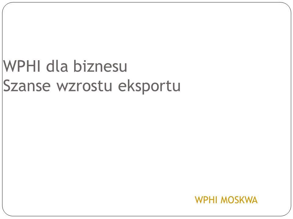 WPHI dla biznesu Szanse wzrostu eksportu WPHI MOSKWA