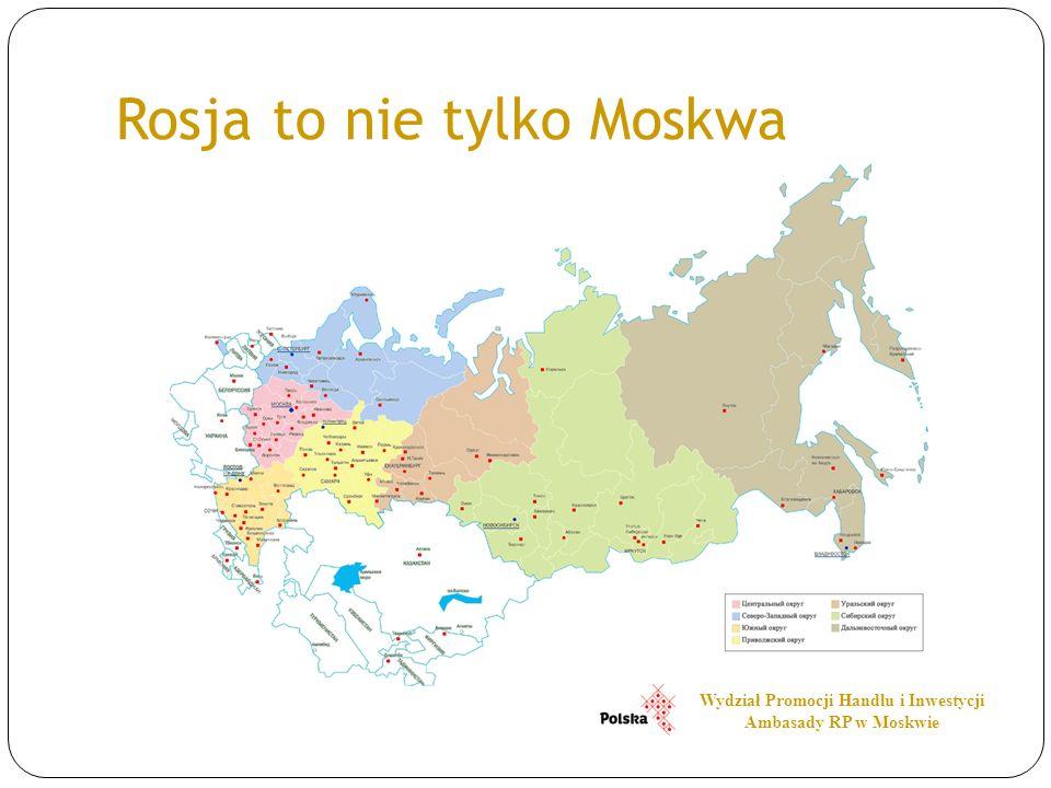 Rosja to nie tylko Moskwa Wydział Promocji Handlu i Inwestycji Ambasady RP w Moskwie