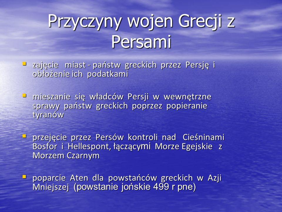 zajęcie miast - państw greckich przez Persję i obłożenie ich podatkami zajęcie miast - państw greckich przez Persję i obłożenie ich podatkami mieszani