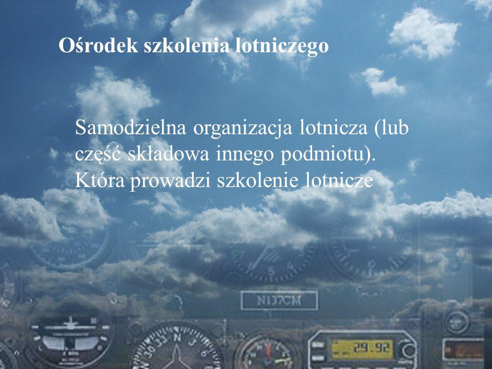 Dominik Punda Ośrodek szkolenia lotniczego Samodzielna organizacja lotnicza (lub część składowa innego podmiotu). Która prowadzi szkolenie lotnicze