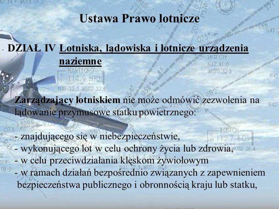 Dominik Punda Ustawa Prawo lotnicze DZIAŁ IV Lotniska, lądowiska i lotnicze urządzenia naziemne Zarządzający lotniskiem nie może odmówić zezwolenia na