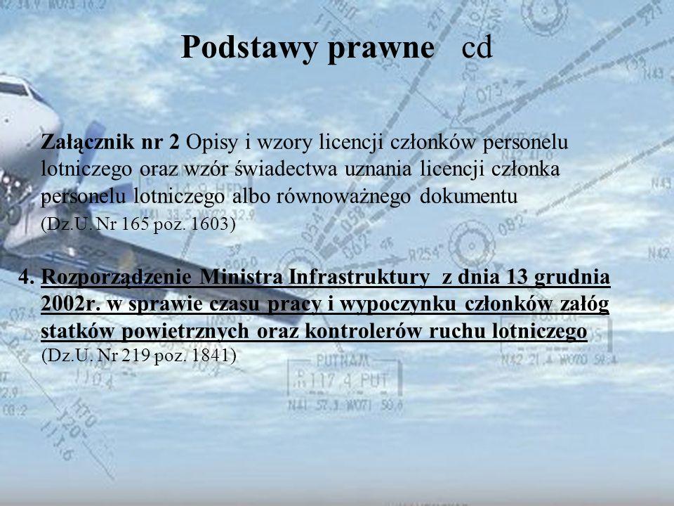 Dominik Punda Podstawy prawne cd PEL Podręcznik Licencjonowania Personelu Lotniczego