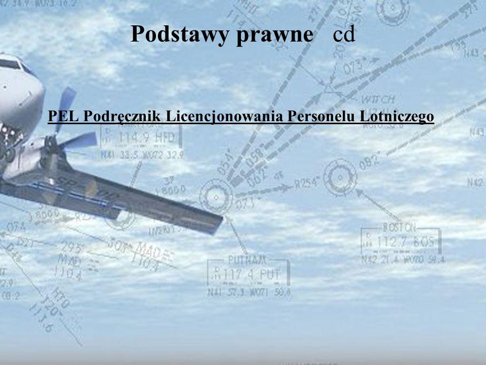 Dominik Punda Ustawa Prawo lotnicze DZIAŁ V Personel lotniczy Prezes Urzędu Lotnictwa Cywilnego prowadzi rejestr personelu lotniczego.