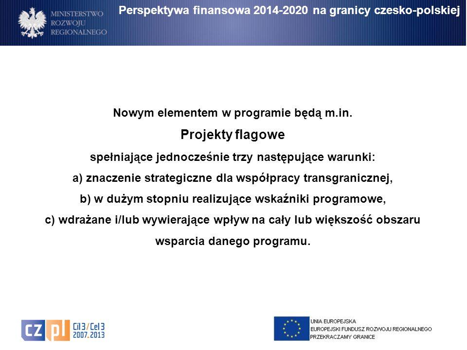 Perspektywa finansowa 2014-2020 na granicy czesko-polskiej Nowym elementem w programie będą m.in. Projekty flagowe spełniające jednocześnie trzy nastę