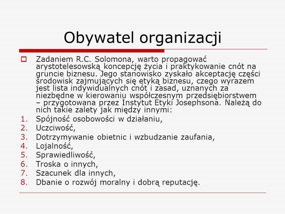 Obywatel organizacji Zadaniem R.C.