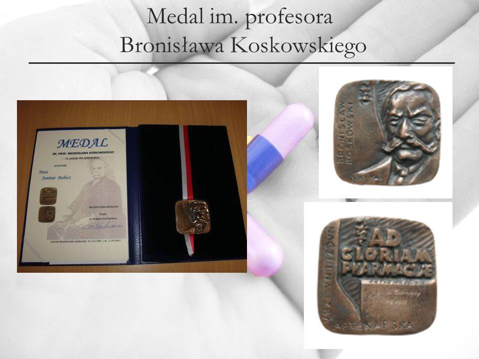 Medal im. profesora Bronisława Koskowskiego