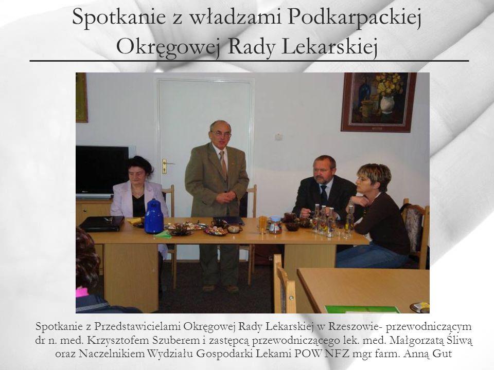 Spotkanie z Wojewódzkim Inspektorem Sanitarnym w Rzeszowie Spotkanie z Wojewódzkim Inspektorem Sanitarnym, lek.