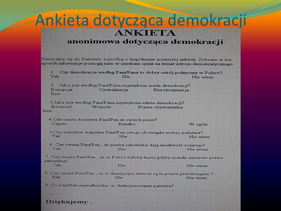 Ankieta dotycząca demokracji