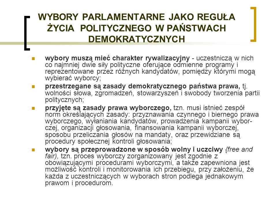 ZASADY PRAWA WYBORCZEGO Uniwersalne zasady prawa wyborczego Do uniwersalnych norm regulujących proces powołania organów przedstawicielskich należy zaliczyć następujące zasady: A.