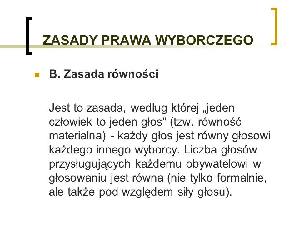 TYPY SYSTEMÓW WYBORCZYCH 1.