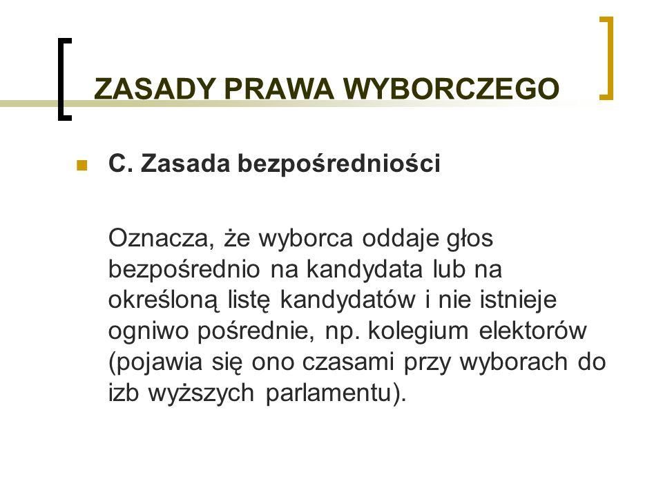 TYPY SYSTEMÓW WYBORCZYCH 4.